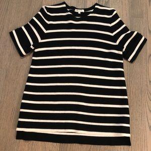 Madewell striped short sleeve sweater